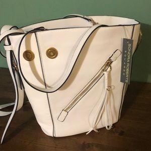 Sondra Roberts white large handbag NWT